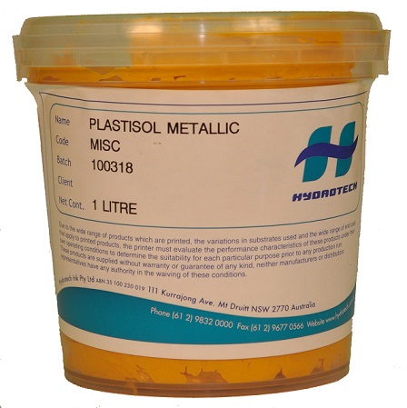 Plastisol Ink Supplies Metallic Gold 1